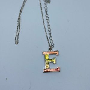 Other - Rainbow E necklace